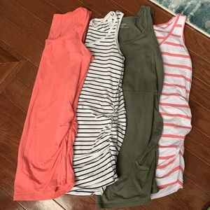 4 Maternity Layering Tanks XS